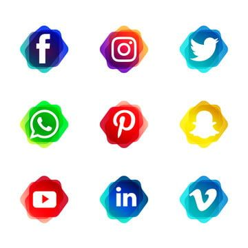 التدرج شعار وسائل الإعلام الاجتماعية ناقلات مجموعة مع أشكال لامعة وسائل التواصل الاجتماعي المرسومة وسائل التواصل الاجتماعي رمز وسائل التواصل الاجتماعي Png وا In 2021 Social Media Icons Instagram Logo Logo Facebook