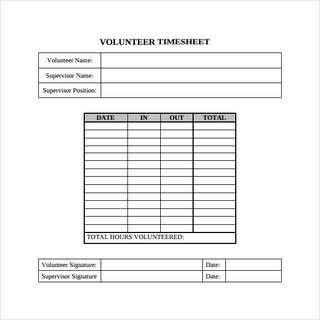 Volunteer Timesheet To Download Timesheet Template Volunteer Hours Templates