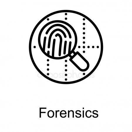 Forensic Logo Line Design Stock Vector Ad Line Logo Forensic Vector Ad Line Design Logo Line Forensics