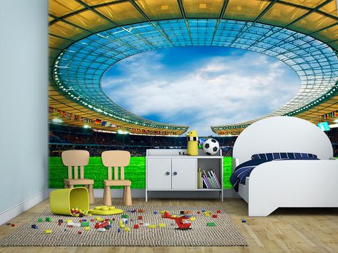 Football Stadium Wall Mural | Football Stadiums, Wall Murals And Adhesive Part 90