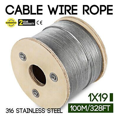Ad Ebay 1 8 Stainless Steel Cable Railing Wire Rope 1x19 Type 316 320 Feet Stainless Steel Cable Railing Stainless Steel Cable Stainless Steel Wire