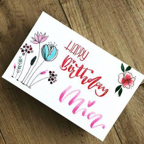 Arts And Crafts Stores Near Me Artsandcraftsinteriors Easyartsandcr Happy Birthday Hand Lettering Happy Birthday Cards Handmade Handlettering Happy Birthday