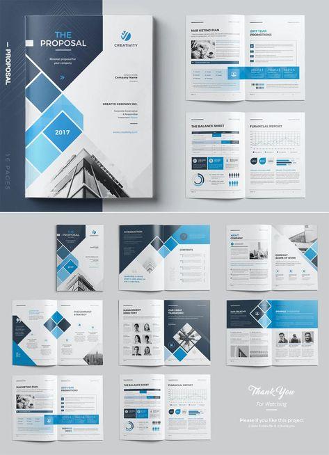Proposal Brochure Template InDesign INDD