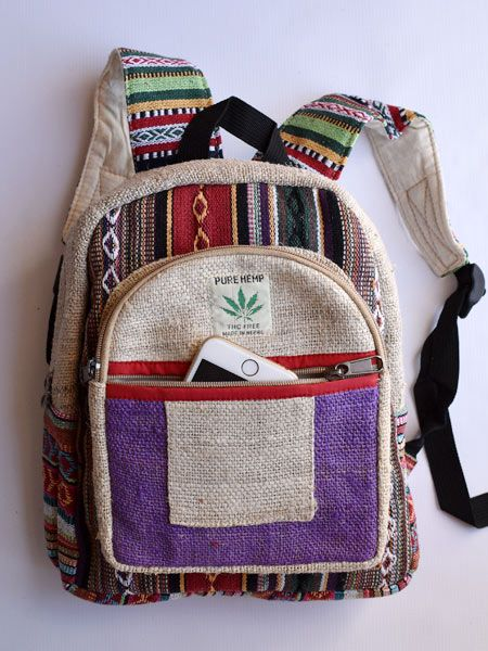 Rucksack by Eco Chic Backpack Dragonfly Print Purple