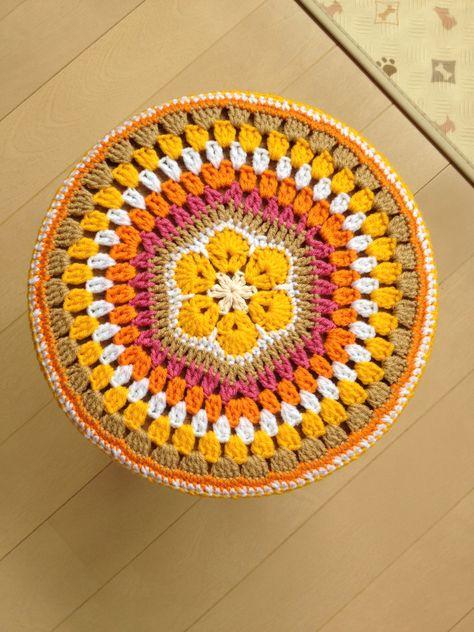 #crochet cover for stool.