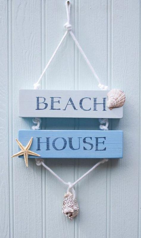 Beach Quenalbertini Beach House Wooden Sign By Drift Wood