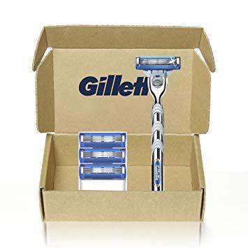 Gillette Mach3 Turbo Men S Razor Handle 4 Blade Refills 4 Count