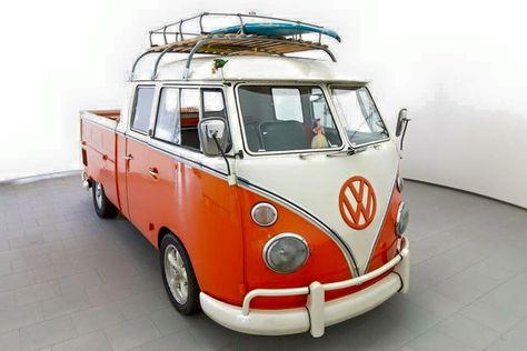 Orange and White Double Cab surf truck vw bus http://www.wfpblogs.com/author/samlee561/