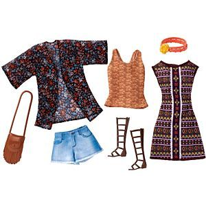 Check out the Barbie Fashions 2-Pack - Boho (DWG40) at the official Barbie website. Explore the world of Barbie today!