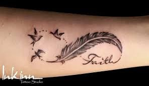 Image result for infinity sign with feather