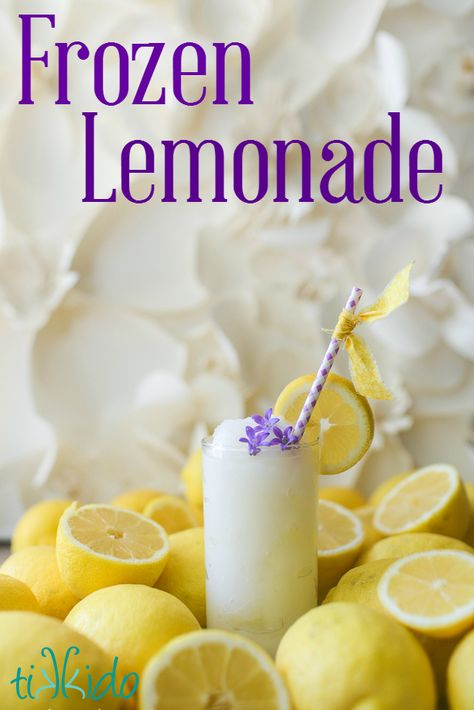 Two recipes for making amazing homemade frozen lemonade.  One classic, one a lemonade creamsicle variety.