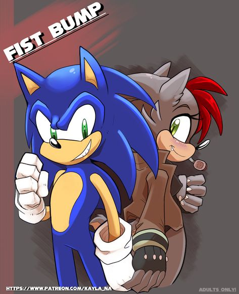 Adult sonic furry art