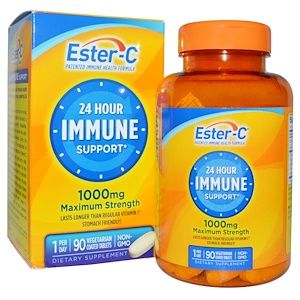 Nature S Bounty 24 Hour Immune Support Maximum Strength 1000 Mg 90 Tablets Discontinued Item Ester C Vitamin C Benefits All Vitamins