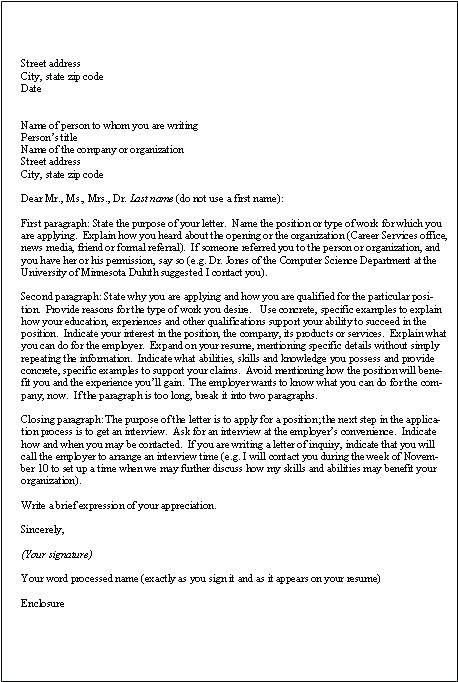 application example letter application writing sample professional ...