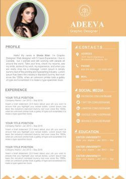 Exemple De Cv Elegant A Telecharger Au Format Word Mycvstore Clean Resume Template Clean Resume Resume Template