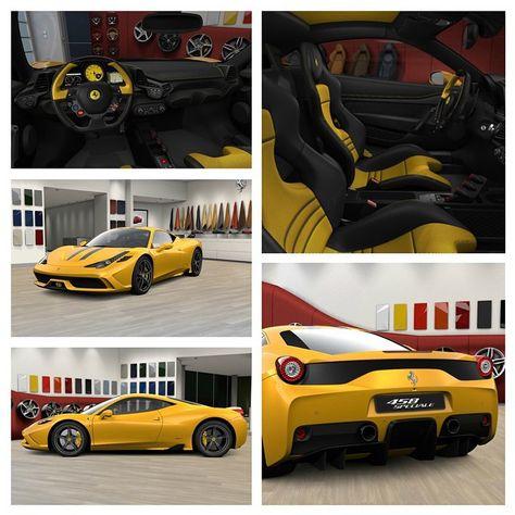 Ferrari 458 Speciale Yellow And Black Interior Ferrari 458