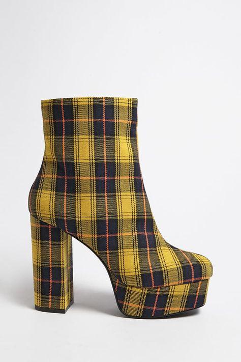 c4625fe33aaf Product Name Plaid Platform Boots