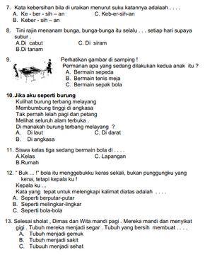 Kunci Jawaban Bahasa Indonesia Sesmter 2 Kelas 3