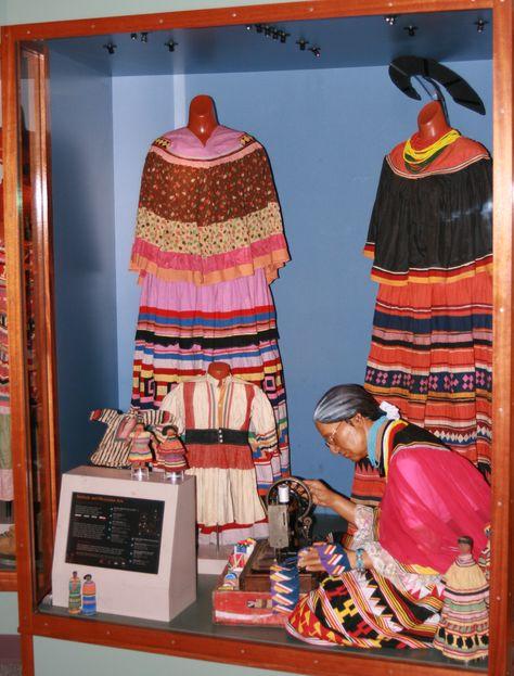 1800s Seminole Indian fashion.