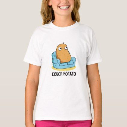 Couch Potato Cute Potato Pun T Shirt Zazzle Com Cute Potato Potato Puns Couch Potato