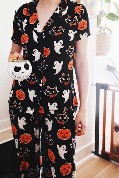 Target's Halloween Pajamas For Women Are Simply Boo-tiful Halloween Pajamas, Halloween Costumes, Halloween Fashion, Halloween Outfits For Women, Halloween Clothes, Burlesque Costumes, Halloween Dress, Halloween 2020, Cute Halloween