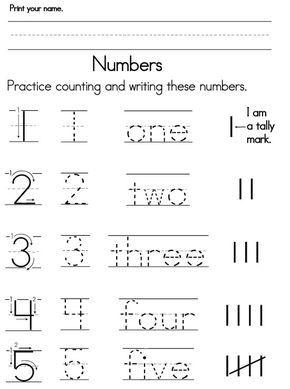Number Worksheets With Images Preschool Number Worksheets