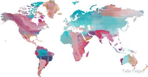 World Map - Paint by Talia Faigen