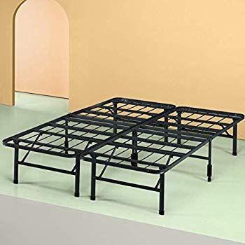Amazon Com Amazonbasics Foldable Metal Platform Bed Frame For