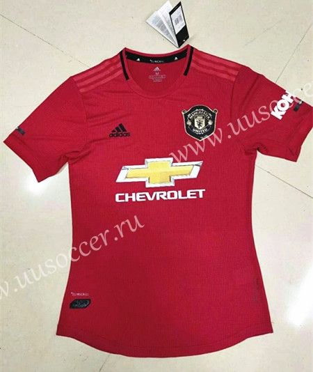 Player Version 2019 2020 Manchester United Home Red Thailand Soccer Jersey Aaa Soccer Jersey Football Sweater Manchester United