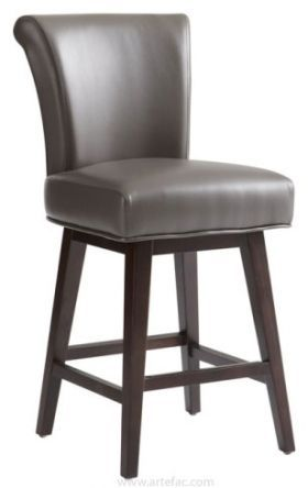 Rollback Swivel Barstool Counter Stool In Brown Bar Stools