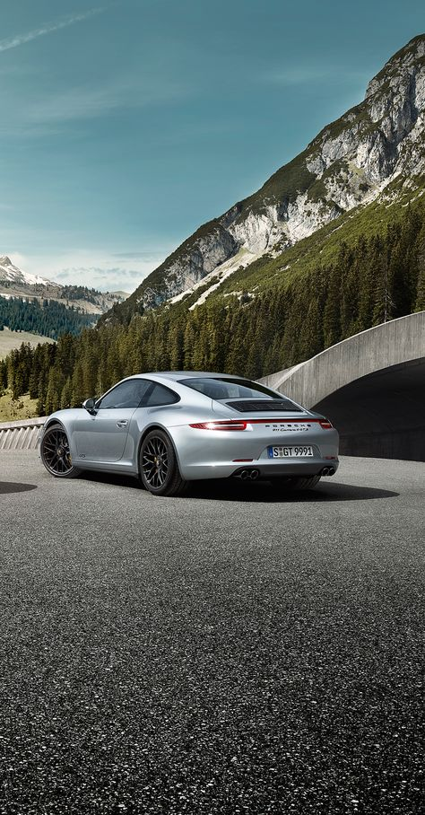 High revs, earthy sound, immediate response. Sports car qualities since 1963. #Porsche #911 #Carrera #GTS. Learn more: http://porsche.com/all/countryselector/default.aspx?type=911-carrera-gts   Combined fuel consumption in accordance with EU5: 12.4-8.2 l/100 km; CO2 emissions in g/km 289-191.
