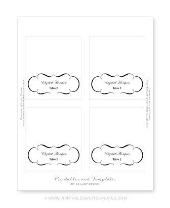 Place Card Template 6 Per Sheet Free Place Card Template Printable Place Cards Templates Printable Place Cards