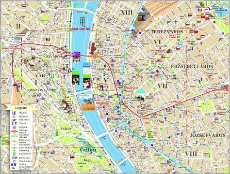 Mapas De Budapeste Hungria Mapa Turistico Budapeste