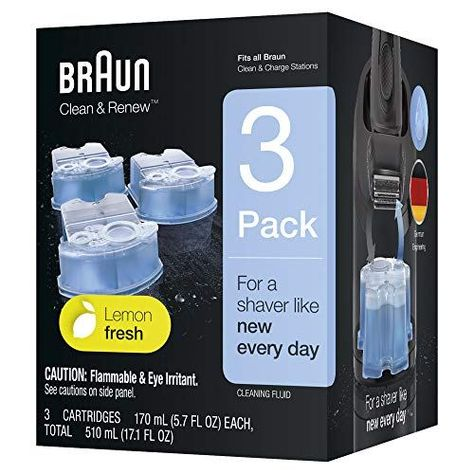 Braun Clean And Renew Refill Cartridges Ccr 3 Pack Braun Clean And Renew Cleaning Cartridges