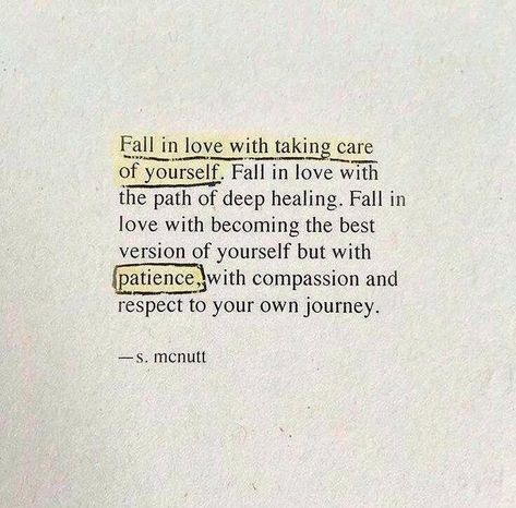 I always disliked self love qoutes. Because they didn't make sense see to me. I see more clearly now.