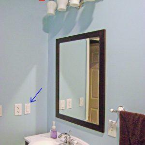 Bathroom Vanity Light With Switch Bathroom Mirror Lights Bathroom Mirror Mirror With Lights