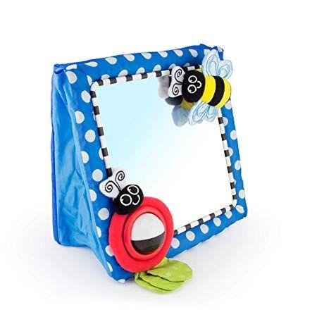 Amazon Com Sassy Tummy Time Floor Mirror Developmental Baby Toy Newborn Essential For Tummy Time Gr Baby Mirror Toy Baby Mirror Baby Developmental Toys