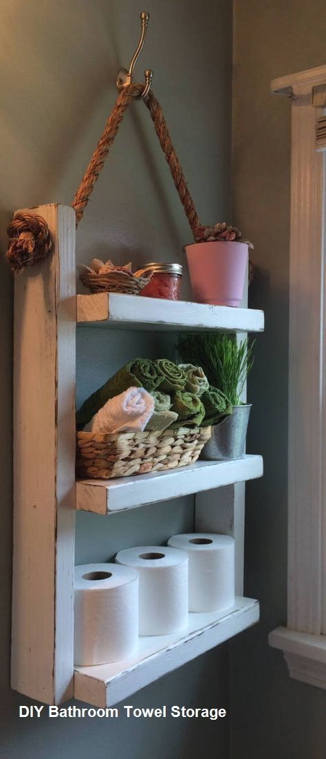 Diy Bathroom Towel Storage Ideas Storage Pallet Bathroom Wooden Ladder Shelf Rustic Bathroom Shelves