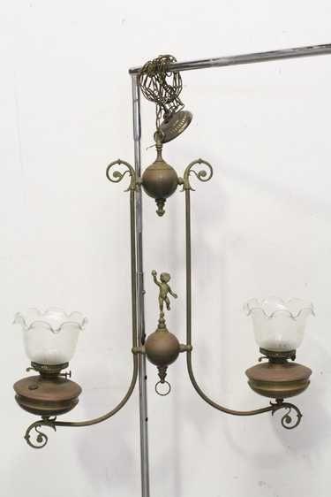 Vintage Victorian Double Gas Light With Cherub Svetilniki Kerosinovaya Lampa Lampa