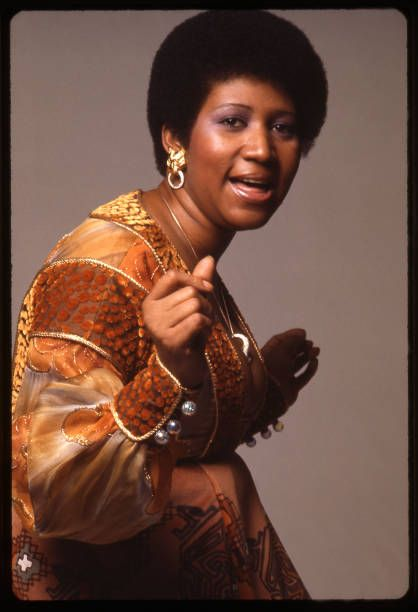 Portrait of American singer and musician Aretha Franklin