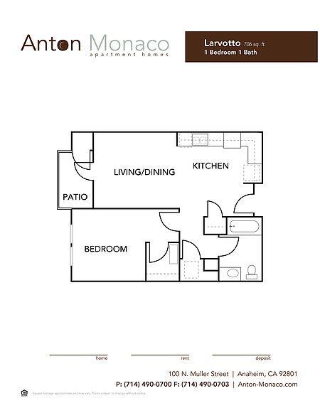 Floorplans Anton Monaco Apartments In Anaheim Ca Anton
