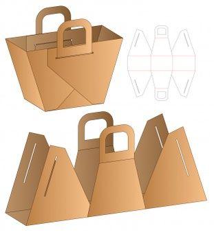 Diy Paper Bag, Paper Crafts, Paper Bags, Bag Packaging, Packaging Design, Diy Gift Box, Box Design, Leather Craft, Bag Making