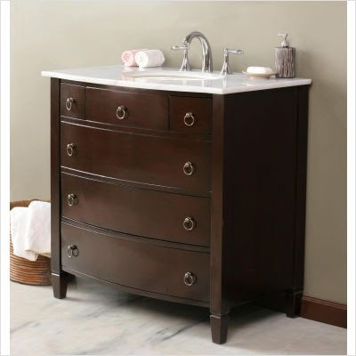 Old dresser turns into bathroom vanity on pinterest - Bathroom vanities made from old dressers ...