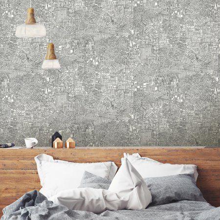 Roommates Empire Peel Stick Wallpaper Walmart Com Peel And Stick Wallpaper Wallpaper Bedroom Bedroom Decor On A Budget