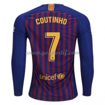 Maillot De Foot La Liga Barcelona 2018 19 Philippe Coutinho 7 Maillot Domicile Manche Longue Maillot De Foot Ousmane Dembele Ousmane