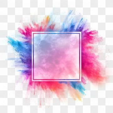 Color Powder Smoke Frame Border Rectangle Watercolor Paint Electric Blue Png Transparent Clipart Image And Psd File For Free Download Pink Background Images Colorful Backgrounds Frame Border Design