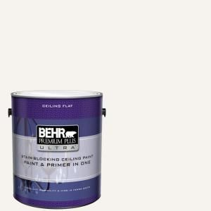 Behr Ultra 1 Gal Ultra Pure White Ceiling Flat Interior Paint And Primer In One 555801 White Ceiling Paint White Ceiling Ceiling Paint Colors