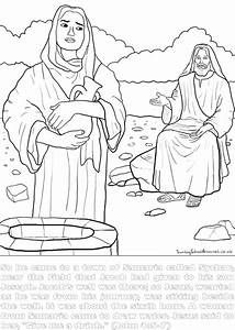 Bible Printables Coloring Pages Woman At Well Yahoo Image Search