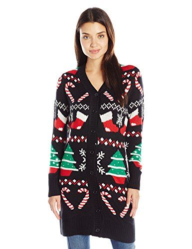 Allison Brittney Women's Christmas Spirit Button up Ugly Christmas ...