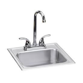 Dayton 15 In X 15 In Satin Single Basin Stainless Steel Drop In 2